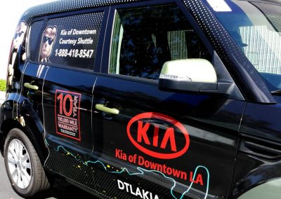 La Wraps Dtla Kia Courtesy Shuttle Wrap