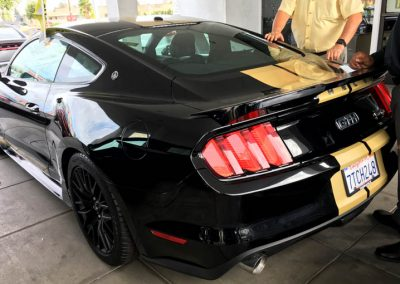 La Wraps Shelby Mustang Hertz Stripes Repair